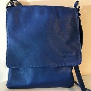 Vera Pelle | Blue Leather CrossBody Bag